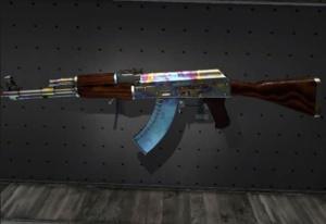 This AK-47 has a full-blue magazine