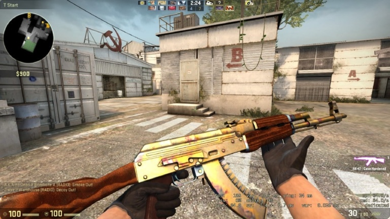 This is a nice example of the Gold Pattern on the AK